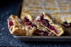 Sour Cherry Slab Pie...mmmmmm, can be made with any regular pie filling!