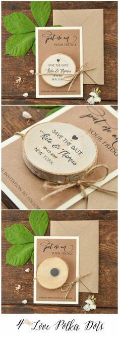 Put me on Your fridge! - wooden Save the Date magnet just $1 per set! #savethedate #wedding #weddingideas #saavybride #affordable