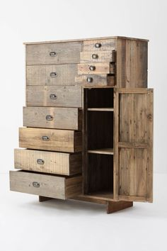 This could go in a few categories... I like that there are big drawers, small drawers and shelves... I like the barn wood too... but could also see it in other woods and finishes. Nice. Will have to talk to Justin.