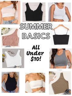 Summer basic tank tops under $10!