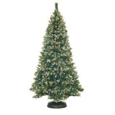 Found it at Wayfair - 7.5' Frosted Pine Christmas Tree with 550 Clear Lights
