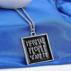 American Horror Story Normal People Scare Me Necklace  Tell us why you love this for a chance to win a free one!