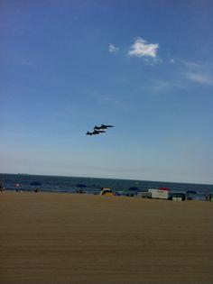 US Navy Blue Angels practice day Friday 6/1/12 Va. beach...