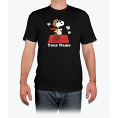 Peanuts Flying Ace Personalized Charlie Brown - Men T-Shirt