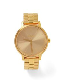 Nixon 'Kensington' Women's Watch. i'd like this in silver.