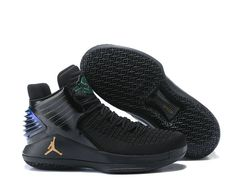 0070bca0f30c Nike Air Jordan 32 PE Black Gold Basketball Shoe For Sale Big Boys  Youth Jeunesse Shoes