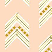 blush gold chevron large by elvie & co on Spoonflower