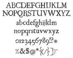 Old time newsprint fonts