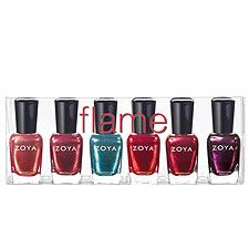 Have this set... Zoya (glittery) flame sampler: tiffany, gloria, crystal, lisa, sarah, valerie.  Lisa is the greatest red ever!  I really dont even like red polish and I love that color.  Do they make this in lighter glitter sets?