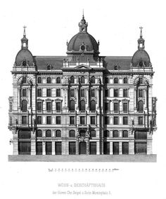 Elevation for a residential building, Vienna