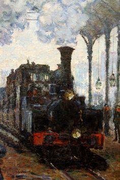 Monet Paintings, Impressionist Paintings, Landscape Paintings, Edouard Manet, Pierre Auguste Renoir, Claude Monet, Artist Monet, Train Art, Art Japonais