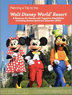 Cover of the New Walt Disney World Guide for Guests with Cognitivie Disabilities - available free online - just click the link in the article.