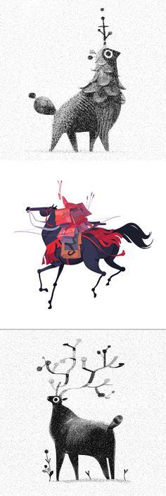 Oren Haskins est un illustrateur / designer londonien. Le dessin parait tellement simple quand vous regardez ses images.