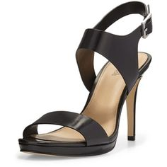 MICHAEL Michael Kors Claudia Leather Mid-Heel Sandal