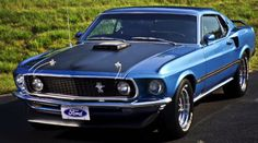 1969 Mustang Mach 1 428 Super Cobra Jet muscle classic t Ford Mustang Gt, Mustang Cobra, Mustang Boss, 1969 Mustang Mach 1, Blue Mustang, Mustang Convertible, American Muscle Mustang, Bicicletas Raleigh, Auto Retro