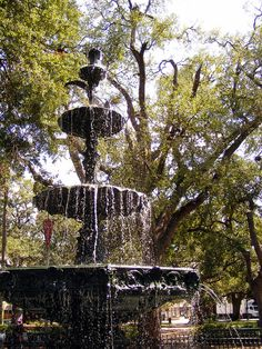 The fountain in the center of Bienville Square, Mobile Al. Used to go there for Brown Bag Friday's and listen to live jazz when in college.