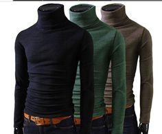 Men Winter Turtleneck Pullover Thermal Sweater
