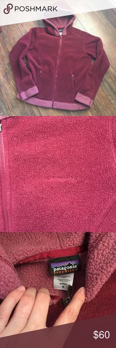 Patagonia berry zip up fleece hoodie size medium Patagonia berry zip up fleece hoodie size medium. EUC. Pit to pit 21.5 inches, length 24 inches. No holds or trades. ❤️❤️❤️ Jackets & Coats