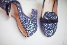 Sparkling shoes <3 the color!