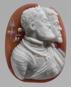 Leone Leoni, Cameo Portraits of Emperor Charles V and King Philip II of Spain (obverse) and Empress Isabella (reverse), 1550