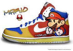My Nike Dunks Photoshop Series Nike Dunks - Mario