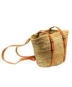 Straw Tote/Backpack | dotandbo.com