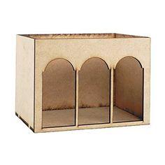 Dollhouse Miniature Arched Room Box Kit