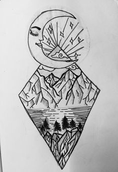 easy drawings cool drawing draw sketches trippy awesome doodle sketch moon idea meaningful uploaded user