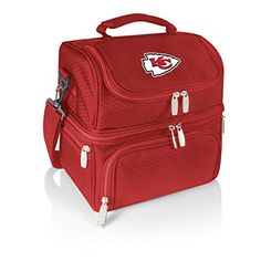 """Camping Kitchen :""""NFL Kansas City Chiefs Pranzo Insulated Lunch Tote : Red : 12 x 11 x 8-Inch"""" *** Check out this great image"""