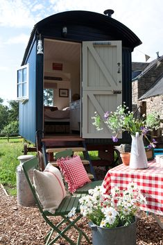 Our lovely new Shepherds Hut available to rent with The Old Granary, Matlock. Soon to be featured in the Period Living magazine June copy!