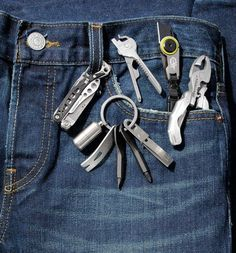 All Tools Great and Small Instead of packing a multitool that leaves you over-equipped, go for a pocket-size model that drills down to basics
