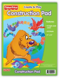 Fisher Price Construction Paper Pad, 9 x 12 Inches, 40 Sheets (410-40) by Fisher-Price. $6.60. For decades, Fisher Price has brought out the creativity in kids. This rainbow of construction paper measures 9 x 12 inches in size, with 40 sheets per pad. Each pad contains an assortment of 8 bright, bold colors, including: black, green, blue, pink, purple, red, orange and yellow. The paper is perfect for stocking the classroom cabinets or completing your child's school supply list....