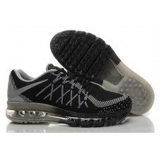 2b05e37ac203 Nike Air Max 2015 - Hotsale Mens Womens Nike Air Max 2015 Flyknit Black  Grey Running