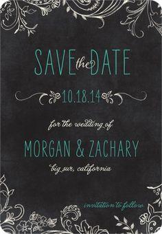 Chalk Celebration - Save the Date Magnets