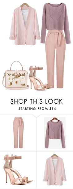 """""""Untitled #253"""" by nicole-lorena on Polyvore featuring Topshop, Gianvito Rossi and Dolce&Gabbana"""