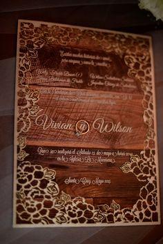 Identidade visual | Convite | Invite | Convite de casamento | Inesquecivel Casamento | Wedding invitation | Visual identity | Wedding visual identity | Convite rústico | Casamento rústico | Convite em madeira