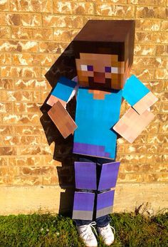 Minecraft Costume  Full Body DIY Kit  All Materials by LemurApps, $29.99