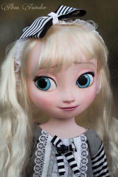 https://flic.kr/p/pkQ1xn | Animator doll ooak repaint elsa poupee