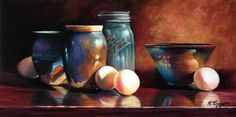 Marie Tippets - Pots And Eggs- Pastel - Painting entry - April 2013 | BoldBrush Painting Competition