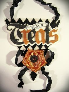 Halloween Decor Banner Wall Hanging Black and by kathyjacobson, $13.00