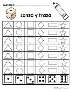 Back to school math worksheets in Spanish for first grade. Counting, shapes, number bonds, sequencing, etc. Great review of Kindergarten math. Hojas de matematicas para primero grado regreso a clases. Agosto