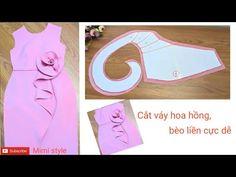 Baby Girl Dress Patterns, Baby Clothes Patterns, Dress Sewing Patterns, Clothing Patterns, Sewing Collars, Sewing Sleeves, Kids Blouse Designs, Diy Bra, Diy Fashion Hacks