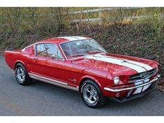 red mustang with white stripes 1950 - Google Search #mustangclassiccars
