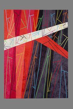 fibrearts:  (via Sgabello #6: Vertex - SandraPalmerCiolino.com | Fiber Artist | Contemporary Quilting | Cincinnati, Ohio)