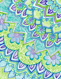 Sharpie Doodle 2 Art Print by kaygor Dibujos Zentangle Art, Zentangle Drawings, Doodles Zentangles, Zentangle Patterns, Doodle Drawings, Sharpie Doodles, Sharpie Art, Sharpies, Zen Doodle