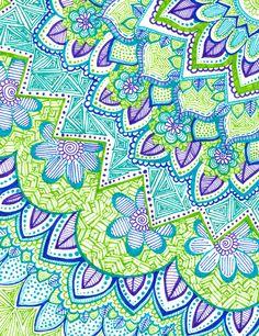 Sharpie Doodle 2 Art Print. I like the use of color