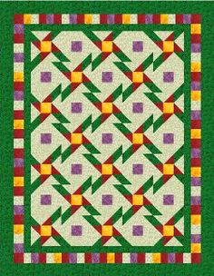 Get the full #pattern for the Daisy Star Nine Patch Quilt on FaveQuilts.com. You can use fabrics in the colors suggested, or use fabrics that complement your decor. Your unique sense of design will make this colorful quilt beautiful!