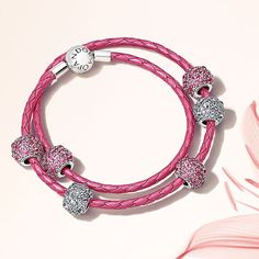 Sneak peek! With its vibrant pink hue and metallic finish, this stylish and feminine leather bracelet is the ideal carrier for your charms during the summer season. Will you be adding it to your wish list? #PANDORA #PANDORAbracelet #SummerCollection16