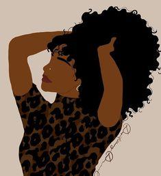 Black Love Art, Black Girl Art, Art Girl, Black Art Painting, Black Artwork, Black Girl Aesthetic, Aesthetic Art, Photographie Art Corps, Black Girl Cartoon