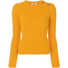 Nº21 side button jumper ($531) ❤ liked on Polyvore featuring tops, sweaters, orange, orange jumper, jumpers sweaters, side button sweater, jumper top and orange sweaters